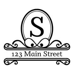 Silhouette Design Store: address monogram frame