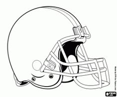 A helmet, Cleveland Browns logo, american football franchise in the North Division of AFC, Cleveland and Berea, Ohio coloring page