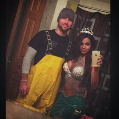 Fisherman and mermaid  . Halloween couple costume