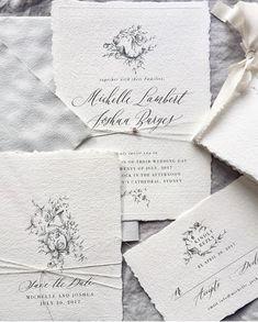 gorgeous delicate invite suite