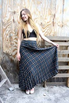 tartan maxi skirt - Google Search