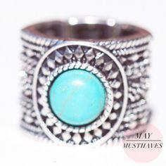 XL ring met steen Ibiza / Boho