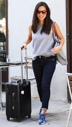Jet-Set in Style: 48 Celebrity-Inspired Outfits to Wear on a Plane - Olivia Munn from #InStyle