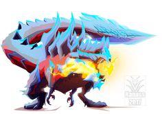 Glavenus by Nanasschevelu on DeviantArt Monster Hunter Memes, Monster Hunter 3rd, Monster Design, Monster Art, Creature Concept Art, Creature Design, Fantasy Beasts, Fantasy Art, Cry Anime