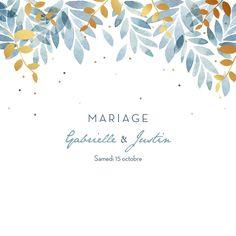 Faire-part de mariage Nuit d'été 4 pages (dorure) de l'Atelier Rosemood #mariage #wedding #rosemood #dorure