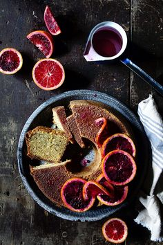 This Blood Orange Pound Cake from @Bakers Royale | Naomi is stunning! Check out her latest post on Delish Dish!