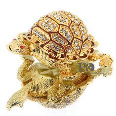 Nice Cute Golden Turtle Full Rhinestone Crystal Jewelry Trinket Box for Gift Box Hinges, Turtle Jewelry, Light Crafts, Rhinestone Wedding, Jewellery Storage, Metal Jewelry, Crystal Jewelry, Jewelry Box, Trinket Boxes
