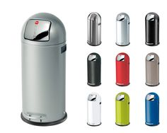 Hailo KickMaxx 50 L Grossraum Abfallbox Mülleimer Papierkorb Push Verzinkt NEU | markenbaumarkt24