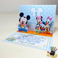 Convite 3D Baby Disney - 10x15