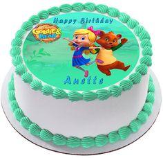 Goldie & Bear 1 Edible Birthday Cake Topper
