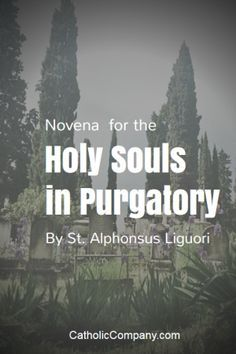 Pray a Novena for the Holy Souls in Purgatory