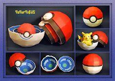 Paperpokés- Pokémon Papercrafts: POKÉ BALL BOX