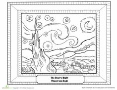 Worksheets: Starry Night by Van Gogh