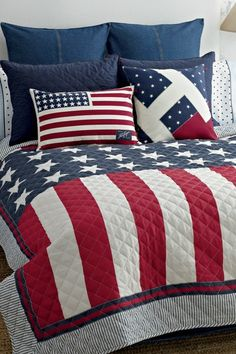 Tommy Hilfiger Bedding on HauteLook anything red, white and blue says I'm proud to be an American...