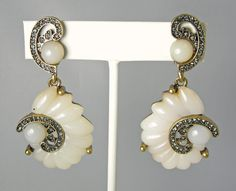 f934cb6fa47aa Oscar De La Renta Swirl Scalloped Clip Earrings Swirls