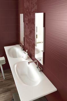 Particolare del colore Cardinal  http://www.supergres.com/your-home/rivestimenti/item/162-lace  #Bathroom #RivestimentoBagni #WallTiles #CeramisOfItaly