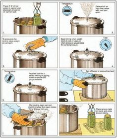 Pressure Canning - How to Guide to Canning   Canning, Food Preservation and Food Storage Ideas, Skills & Tips by Survival Life at http://survivallife.com/2014/04/02/guide-canning-canning-jars/