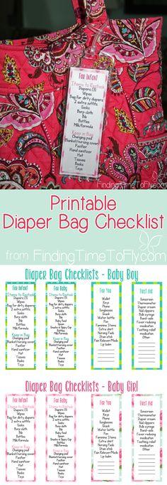 Diaper Bag Checklist...something every new Mom needs!
