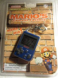 1998 Nintendo Mini Classics Mario's Cement Factory Keychain Mini Hand Held Game #Nintendohandheldgames #vintagenintendo #mariobros