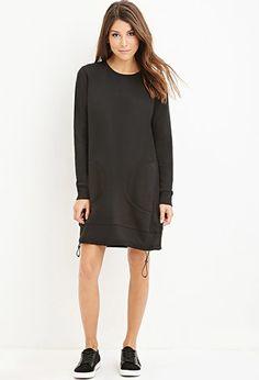 Drawstring Sweatshirt Dress |  - 2000154098