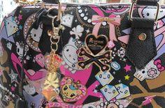 Punk pink Skull Hello Kitty Limited Edition handbag tote bag with lock and keys