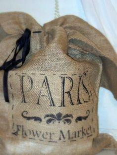 burlap bag with crown | Burlap Sacks drawstring bag large burlap sack by pillowsbytamilyn, $29 ...