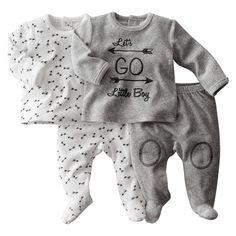 Pijama 2 peças, veludo (lote de 2) 0 meses-3 anos R baby