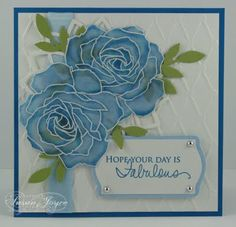 Cat's Ink.Corporated: Pals Paper Arts #89 - Flowers - Blue Roses