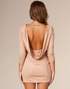 upper back tattoos Passion For Fashion, Love Fashion, Fashion Beauty, Womens Fashion, Sexy Dresses, Cute Dresses, Cute Outfits, Backless Dresses, Beige Dresses