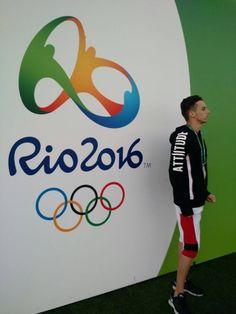 Brazilian Freestyle Football Champion Adonias Fonseca in Attiitude gear at Olympic 2016 #myattiitude #olympic2016 #rio2016 #summerolympics #menswear #fashionpost #postoftheday — with Victor Davila.