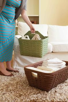 This fall, be organized with these big, beautiful baskets. #store #more