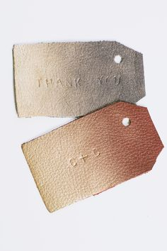 DIY Ombre Leather Tags