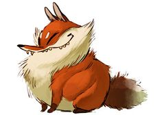 Haha this fat fox is too cute!