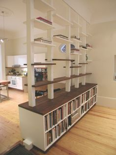 bookcase-roomdivider | organizing, spaces and room