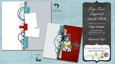 Top Two Layered Quick Click - $1.49 : ScrapBird!, source for digital scrapbooking