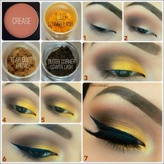 Sexy Eye Makeup Tutorials - Intense Gold Eye Makeup - Easy Guides on How To Do Smokey Looks and Look like one of the Linda Hallberg Bombshells - Sexy Looks for Brown, Blue, Hazel and Green Eyes - Dram Sexy Eye Makeup, Gold Eye Makeup, Eye Makeup Steps, Hooded Eye Makeup, Simple Eye Makeup, Smokey Eye Makeup, Hooded Eyes, Full Makeup, Smokey Eyes Tutorial