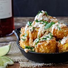 A fun and creative tapas recipe for Mexican Street Corn Croquettes. All the flavor of Elotes (Mexican Street Corn) in bite-size form! Mexican Appetizers, Mexican Food Recipes, Appetizer Recipes, Vegetarian Recipes, Good Food, Yummy Food, Le Diner, Street Corn, Clean Eating Snacks