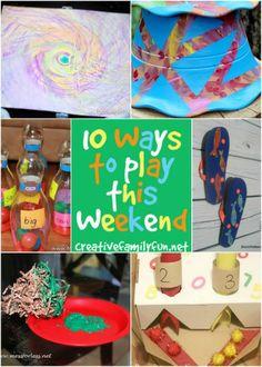 10 Ways to Play This Weekend: Week 43 ~ Creative Family Fun
