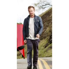 Aaron Paul Jacket design by inspiration of Need for Speed movie for all Aron Paul Lovers Get This: Latest Hollywood Movies, Motorcycle Jacket, Bomber Jacket, Aaron Paul, Need For Speed, Stylish Jackets, Black Leather, Cowhide Leather, Real Leather