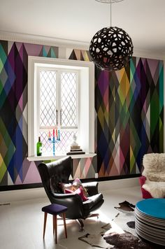 my alll time favorite wall paper Keltainen talo rannalla: Väri-ideoita ja persoonallisia koteja
