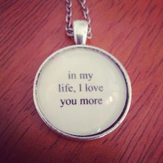 in my life lyric necklace by SuperFantasticJulie on Etsy, $16.00 #beatles #etsy #inmylife