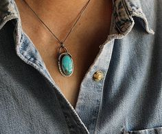 Sky Watcher Turquoise Necklace . OOAK Handcrafted . Compass Turquoise