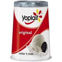 Yoplait cookies n cream yogurt