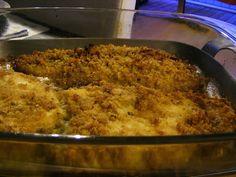 Filetes de pescada no forno com pão ralado