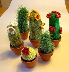 Crochet Pig, Crochet Cactus, Crochet Cozy, Crochet Animals, Diy Crochet, Crochet Flowers, Cactus E Suculentas, Cactus Craft, Amigurumi Tutorial