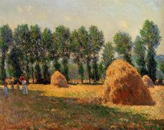 Haystacks at Giverny 1885 Claude Monet