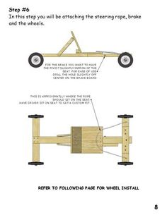 Picture of Installing Brake and Steering Rope Soap Box Derby Cars, Soap Box Cars, Diy Soap Box, Soap Boxes, Go Kart Steering, Wooden Go Kart, Wooden Scooter, Go Kart Plans, Diy Go Kart