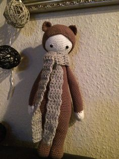 BINA the bear made by Anita P. / crochet pattern by lalylala