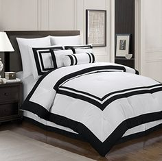 Chezmoi Collection 7-Piece Caprice White with Black Square Pattern Hotel Comforter Set, Queen Chezmoi Collection http://www.amazon.com/dp/B0029132NU/ref=cm_sw_r_pi_dp_.4WKvb1CGFD6Z