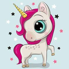 Reginast777 Фотограф - iStock Horse Template, Cartoon Unicorn, Diamond Paint, Beginner Painting, Creative Activities, Modern Cross Stitch, Beautiful Paintings, Blue Backgrounds, Cute Cartoon